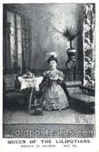 cir003102 - Queen of the Liliputians, Smallest Person, Midget, Midgets, Dwarf,  Circus Postcard Post Card