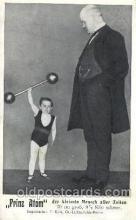 cir003161 - Prinz Atom Smallest Person, Midget, Midgets, Circus Postcard Post Card