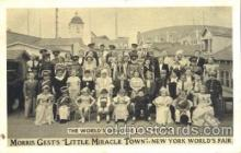 cir003172 - Morris Gest's, Little Miracle Town, New York Worlds Fair 1965,  Smallest Person, Midget, Midgets, Circus Postcard Post Card