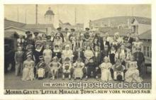 cir003173 - Morris Gest's, Little Miracle Town, New York Worlds Fair 1965,  Smallest Person, Midget, Midgets, Circus Postcard Post Card