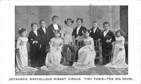 cir003407 - Circus Post Card, Old Vintage Antique Postcard