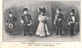 cir003425 - Circus Post Card, Old Vintage Antique Postcard