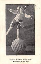 cir003485 - Circus Post Card, Old Vintage Antique Postcard