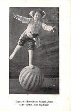 cir003527 - Circus Post Card, Old Vintage Antique Postcard