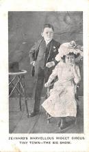 cir003567 - Circus Post Card, Old Vintage Antique Postcard