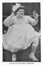 cir004155 - Heaviest Person Circus Postcards