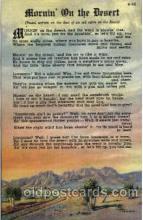 cir005151 - Morning on the Desert, Postcard Post Card
