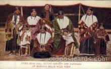 cir005162 - Chief, Iron Tail, indian Squaws and Papooses, at Buffalo Bill's Wild West,  Postcard Post Card