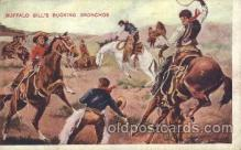 cir005185 - Bucking Bronchos Circus, Buffalo Bill's Wild West Postcard Post Card
