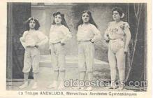 cir006001 - La Troupe Andalucia, Gymnastics, Circus Postcard Post Card
