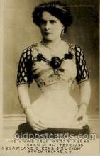 cir006083 - Mlle Gabriel, The living Half Woman age 25 Born in Switzerland, Dreamland Circus side show, Coney Island, NY