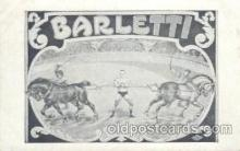 cir006143 - Circus Postcard Post Card Barletti