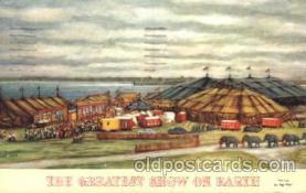 cir006171 - The greatest show on earth Circus Postcard Post Card