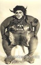 cir006199 - Real Photo - Chief Catawan, Largest Human on Earth Circus Postcard Post Card