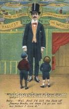 cir006202 - The Tallest man in the World Circus Postcard Post Card