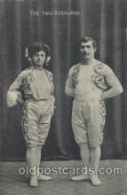 cir006205 - The Two Rosauros Circus Postcard Post Card