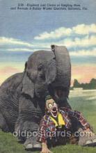 cir006211 - Elephant and Clown at Ringling Bros Circus Postcard Post Card