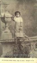 cir006232 - Princess Wee Wee Age 23 Weight 12 lbs, Black Circus Midget Postcard Post Card