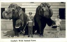 cir006239 - Goebel's Wild Animals Farm George Emerson & Bernice Brown, Circus Oddities Postcard Post Card