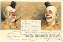 cir007016 - Circus Clown Clowns Postcard Post Card