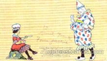 cir007040 - Circus Clown, Clowns, Postcard Post Card