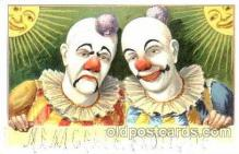 cir007050 - Circus Clown, Clowns, Postcard Post Card