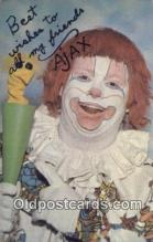 cir007088 - Ajax, The Magic Clown Circus Postcard Post Card Old Vintage Antique