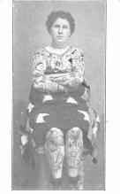 cir007209 - Woman Undivided back,  pre 1907 Tattoo Post Card