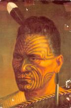 cir007229 - Maori Warrior, New Zealand Painting Tattoo Post Card