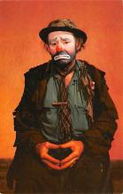cir007235 - Emmett Kelly as Weary Willie Circus World Famous Clown Post Card