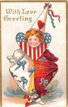 cir007247 - With Love Greetings Circus Clown Post Card