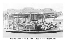 cir007279 - Merry Go Round, Gateway Park, Seaside Oregon, USA Circus Post Card