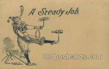cir010013 - A Steady job Circus Old Vintage Antique Postcard Post Card