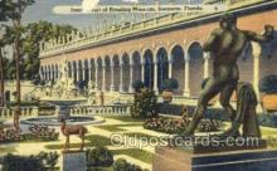 cir010014 - Ringling Museum Sarasota Florida USA Circus Old Vintage Antique Postcard Post Card
