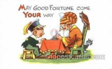cir010015 - May good fortune come your way Circus Old Vintage Antique Postcard Post Card
