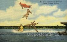 cir010021 - The clowns spectacular show at Florida Cypress Gardens USA Circus Old Vintage Antique Postcard Post Card