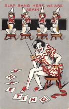 cir100673 - Circus Clowns Acts Old Vintage Post Cards