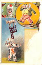 cir100703 - Circus Clowns Acts Old Vintage Post Cards