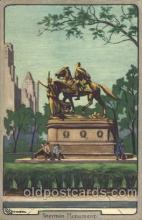 civ001029 - Sherman Monument Civil War Postcard Post Card
