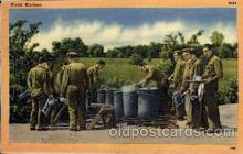 civ001030 - Field Kitchen Military, War, Postcard Post Card