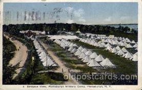 civ001063 - Plattsburgh military camp, PA, Pennsylvania, USA Military, War, Postcard Post Card