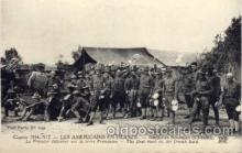 civ001068 - American soldiers in France Military, War, Postcard Post Card