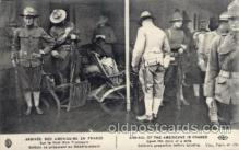 civ001069 - Arrival of the Americans in France Military, War, Postcard Post Card