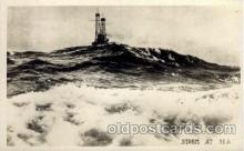 civ001070 - Strom at sea Military, War, Postcard Post Card