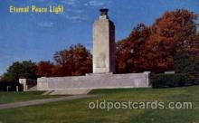 civ001085 - Eternal light peace memorial, Gettysburg, PA, Pennsylvania, USA Military, War, Postcard Post Card