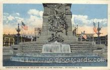 civ001087 - Soldiers and sailor's monument, Indianapolis, Ind. Indiana, USA Military, War, Postcard Post Card
