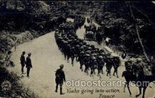 civ001091 - Yanks going into action France Military, War, Postcard Post Card