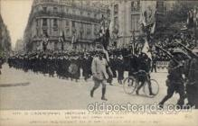civ001096 - American Independence day in Paris Military, War, Postcard Post Card