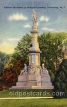 civ001120 - The natational monument, Gettysburg, PA, Pennsylvania, USA Military, War, Postcard Post Card