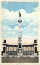civ001121 - Jefferson Davis Mounment, Richmond, VA, Verginia, USA Military, War, Postcard Post Card